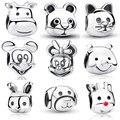100% 925 Sterling Silver Pandora Charms,,Mickey,Minnie,Panda,Winnie,Cat,Rabbit,Calf,Dog,Reindeer Rudolph,Beads for Bracelet DIY