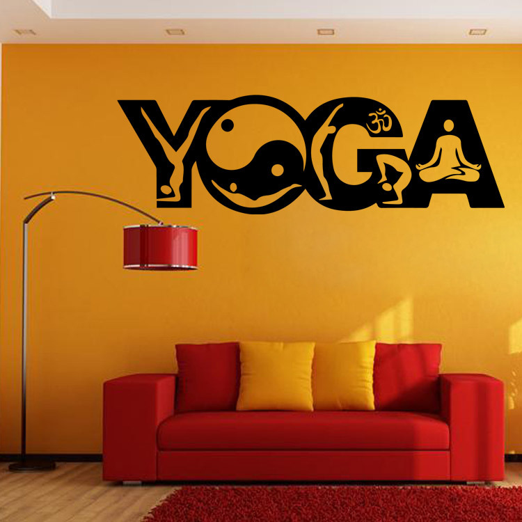 Indian Buddhism Yoga Art Mural Poster Wall Sticker Mandala Wall Decal India  Yoga Wall Paper Poster Home Decor Wall Applique In Wall Stickers From Home  ...