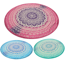 Handmade Summer Beach Towels Floral Printed Lace Tassels Round Blanket Bath Towel Swim Cover-ups High water absorbent Yoga Mat