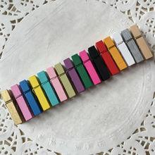 סיטונאי מיני ליבנה עץ בגדי סיכות, (5000 יח\חבילה) מיני גדלים סיכות, מיני קליפים, צבעוני, 3.5 cm, אמנות & קרפט אבזרים