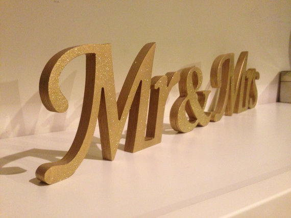 Mr And Mrs Large Wooden Letters: Aliexpress.com : Buy Glitter Mr & Mrs Wedding Letters. Mr
