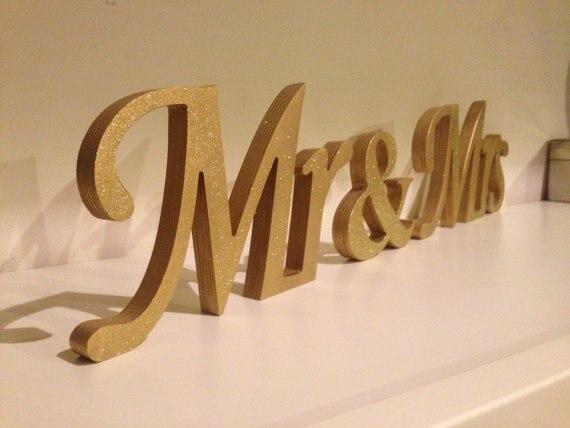 Aliexpress.com : Buy Free Shipping Glitter Mr & Mrs