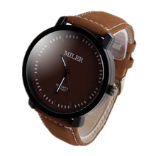MILER Watch Men Watch Fashion Sport Wrist watches Leather Military Men's Watch Hour Clock relogio masculino reloj hombre