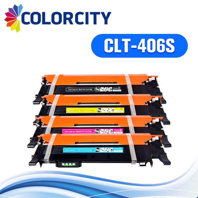 1set CLT 406S clt 406 compatible toner cartridge for Samsung CLP 360 CLP 365w clp 360