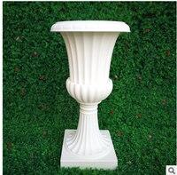 Trumpet vase wedding flower pot wedding ceremony European style Rome basin road wedding plastic European style Rome flowerpot