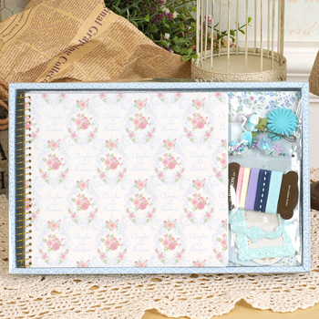 Eno Greeting Floral Flower Paper Photo Album Small Diy Baby