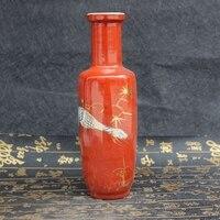 Antique porcelain, butterfly Vase Decoration, porcelain bottle decoration