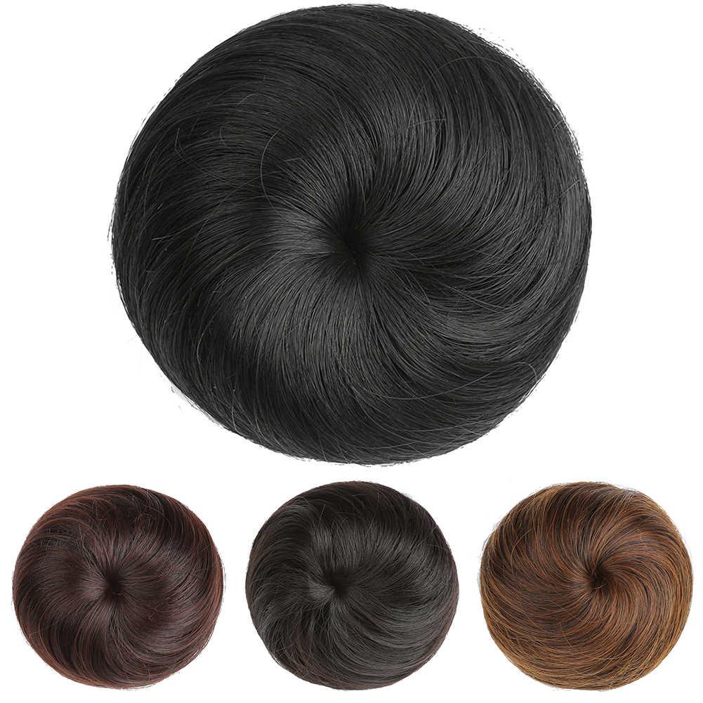 Шиньон Короткие Твердые Синтетические плетение булочка Adjsutable размеры моющиеся парик удобная одежда хвост Расширения Scrunchie шиньон