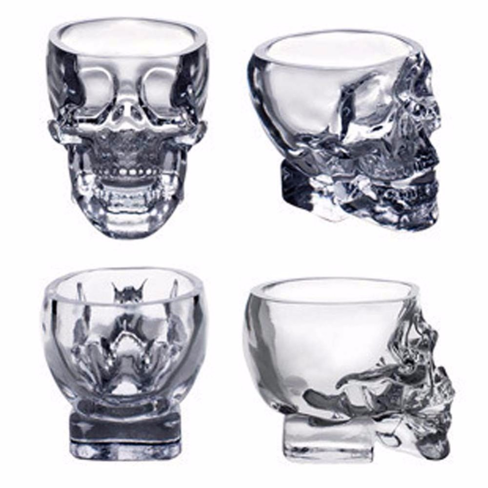 skull head shot glass drinking ware free shipping worldwide. Black Bedroom Furniture Sets. Home Design Ideas