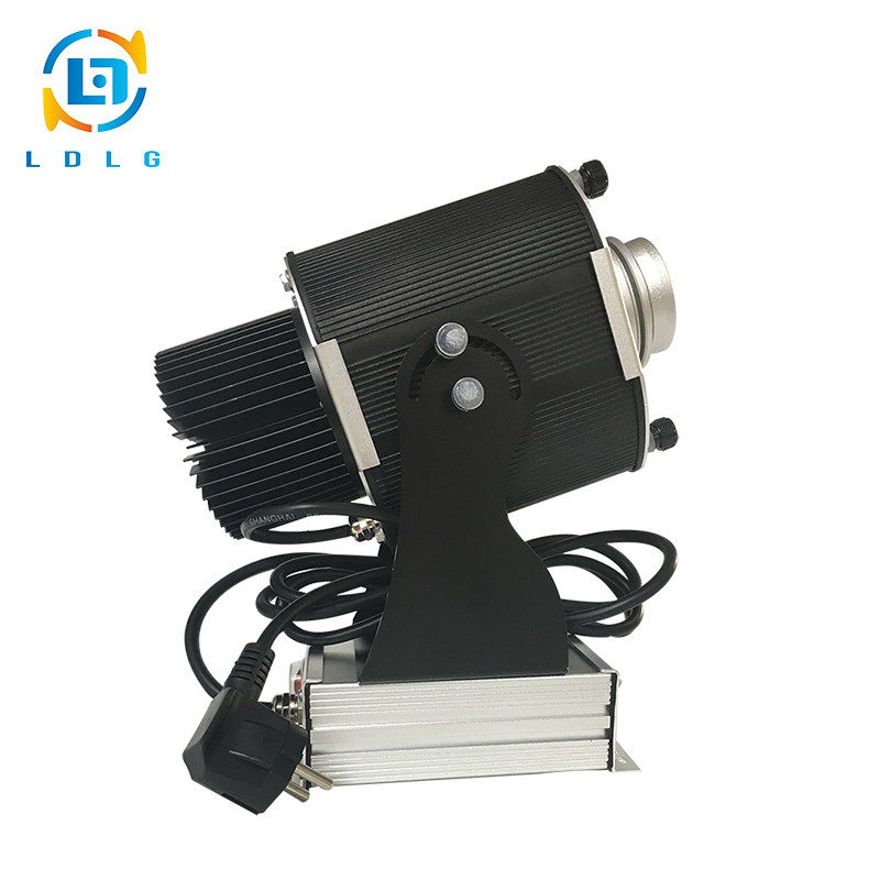 Low Price Christmas Lights Outdoor 20W LED Custom Logo Gobo Projector Aluminum Alloy 1700 Lumens Projector with 1 Two Color Gobo