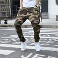 Fashion Camouflage Harem Pants Cotton Men Drop Crotch Joggers Loose Elastic Long Trousers Ripped Tapered Jeans Plus Size