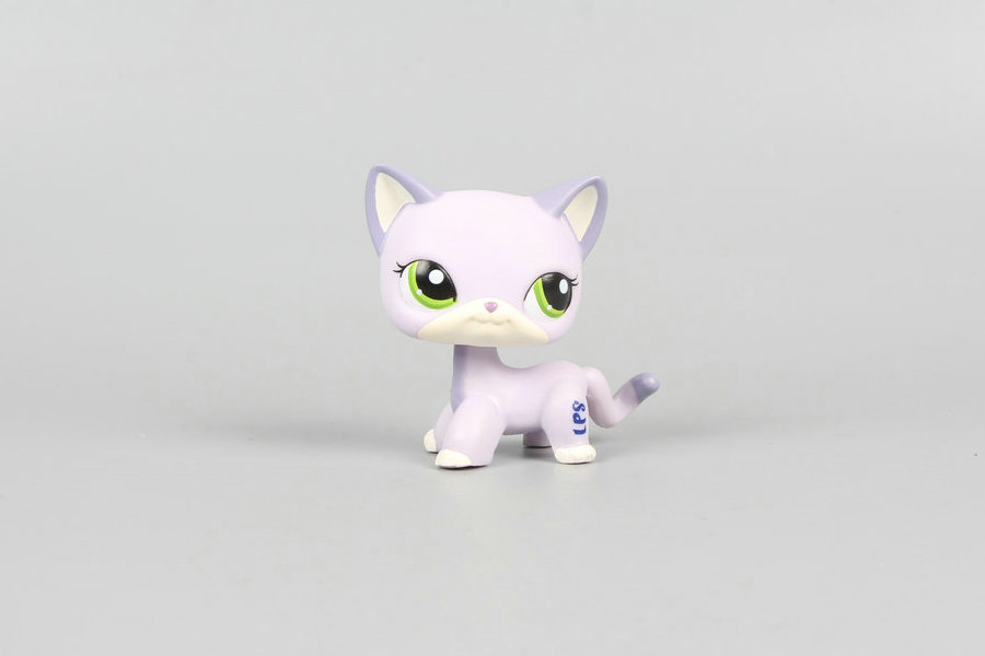 цены New Pet Collection Figure LPS ##2094 Green Eyes Purple Kitty CAT Kids Toys