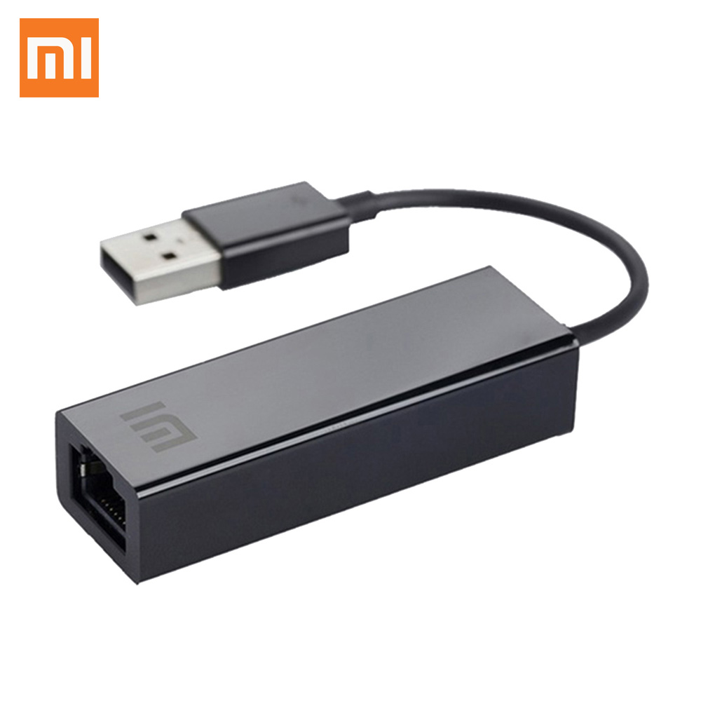 Original Xiaomi USB To Ethernet Card RJ45 Adapter Cable External 10/100Mbps For Mi BOX 3 3C 3S 4 4C SE Laptop PC Notebook Usb2.0