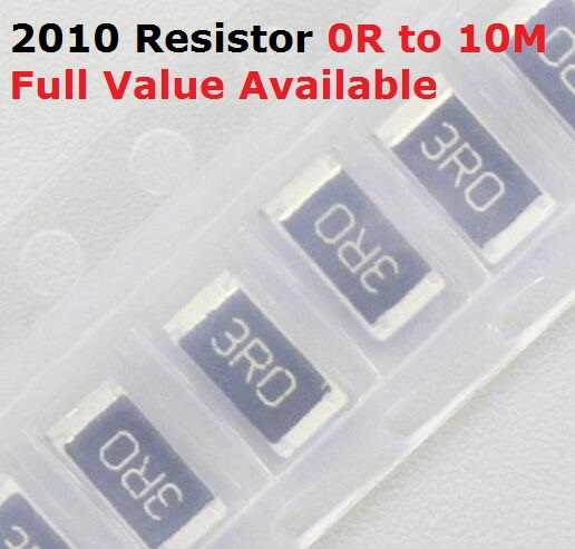 100 Buah SMD Chip 2010 Resistor 1.5R/1.6R/1.8R/2R/2.2R Resistance 5% 1.5/1.6 /1.8/2/2. 2/Ohm Resistor 1R5 1R6 1R8 2R2 Gratis Pengiriman