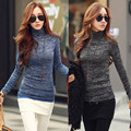 ZANZEA Autumn Winter Women Knitted Sweaters Jumper Top Fashion Casual Ladies High Neck Long Sleeve Slim Fit Pullovers Plus Size