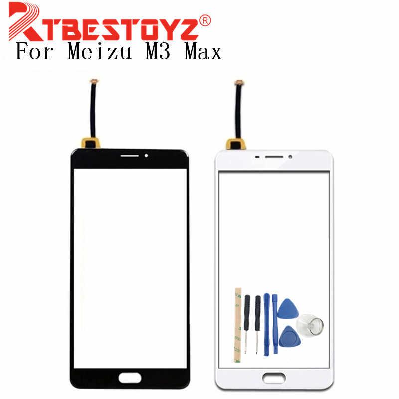 """RTBESTOYZ 6.0 """"ل Meizu M3 ماكس محول الأرقام بشاشة تعمل بلمس الزجاج لوحة لا LCD الهاتف استبدال + أدوات"""