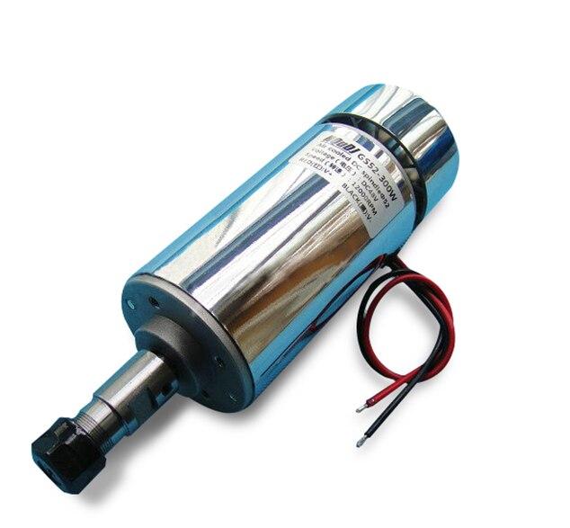 DC Motor 200 W/300 W/400 W/500 W máquina de grabado del husillo de refrigeración por aire cnc husillo CNC Motor máquina de grabado ER11 3.175