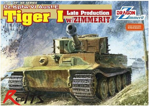 RealTS Dragon model 6383 1/35 Pz.Kpfw.VI Ausf.E Tiger I Late Production w/Zimmerit plastic model kit чумакова о цветочные мотивы книжка раскраска