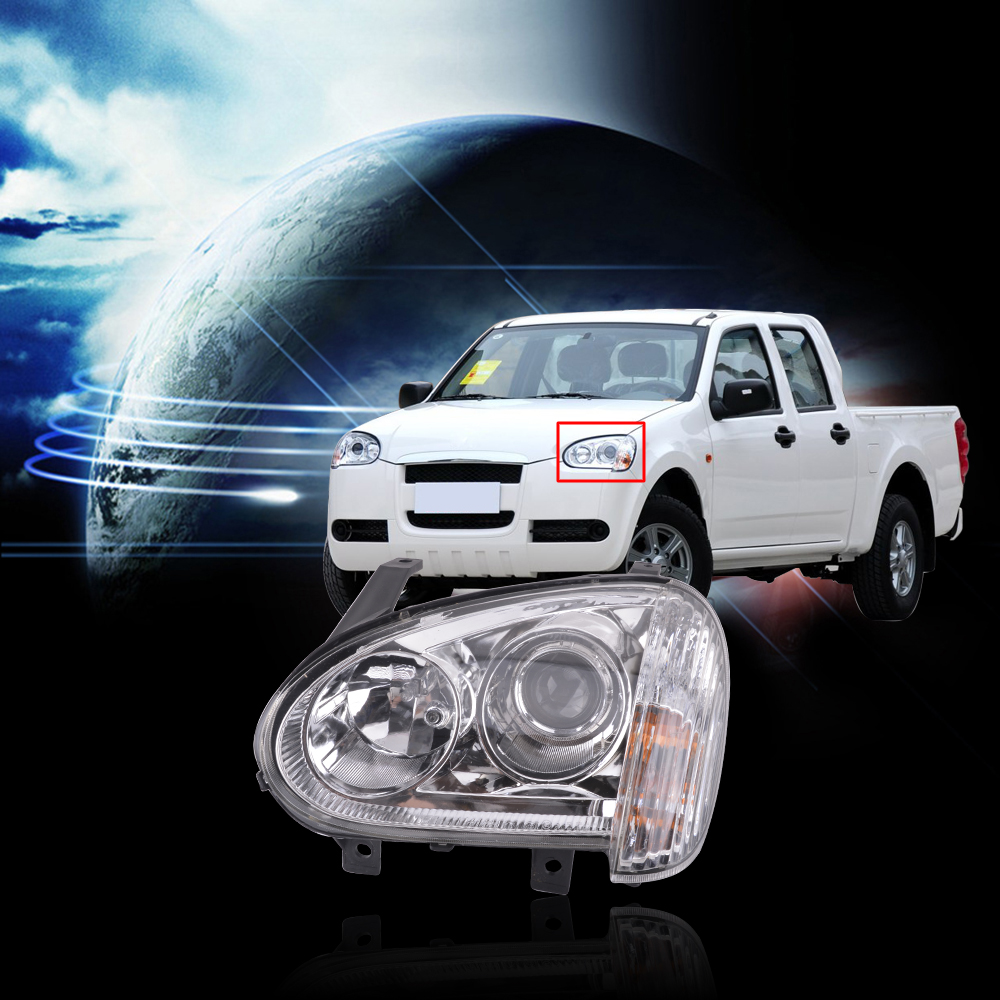 CAPQX Front Headlight Headlamp For Great Wall Wingle3 Wingle 3 2006 2007 2008 2011 Head Light Lamp Manual Or Electric For Choose