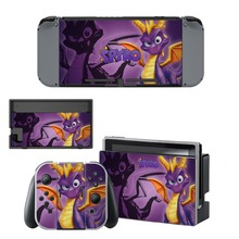 Vinyl Skins Sticker For Nintendo Switch NS N-Switch Console and Controller Skin Sticker Set - For Spyro The Dragon цена