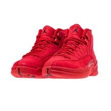 9c209aa7a92d89 Jordan Retro 12 Gym red Basketball shoes Bulls Michigan University blue  College ovo white Dark Grey