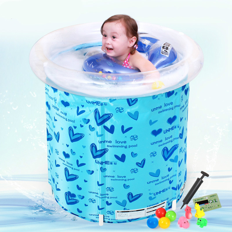 Household Inflatable Baby Pool Baby Swimming Pool Barrels Thickened Newborn Children's Play Pool dual slide portable baby swimming pool pvc inflatable pool babies child eco friendly piscina transparent infant swimming pools