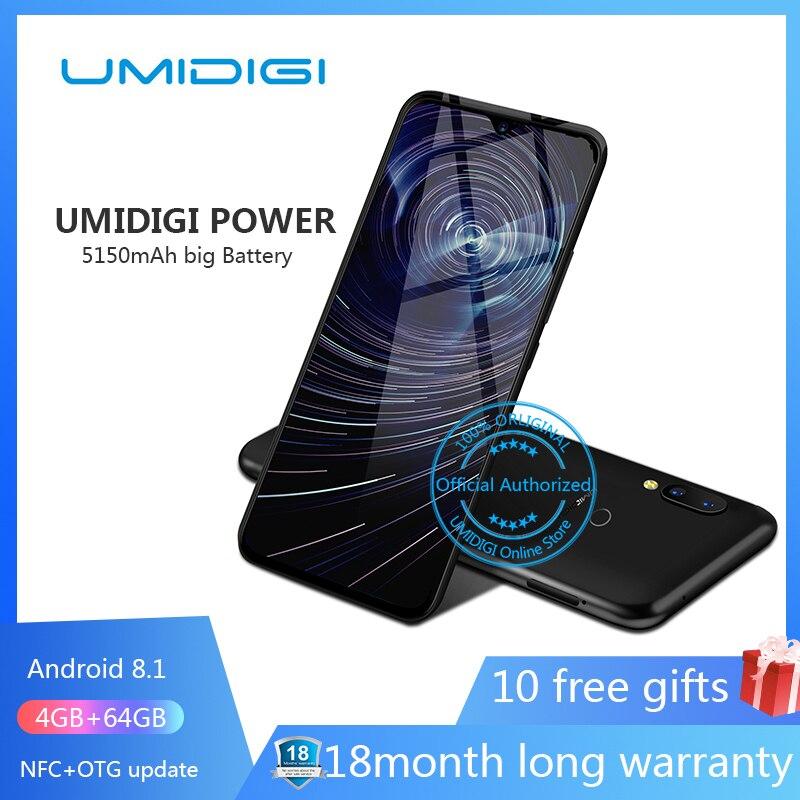 Фото. Umidigi power 6.3 дюйм 4GB 64 ROM Мобильный телефон Octa Core Android 9.0 16MP + 16MP Мобильный