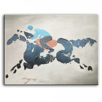 painter original paintings decoration painting Custom made oil painting Original oil painting horse racing 16111302