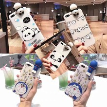 Linda funda de teléfono Animal Hello Kitty 3D para iPhone X XR XS MAX carcasa de iPhone Linda Panada gato perro suave caso del silicio del(China)