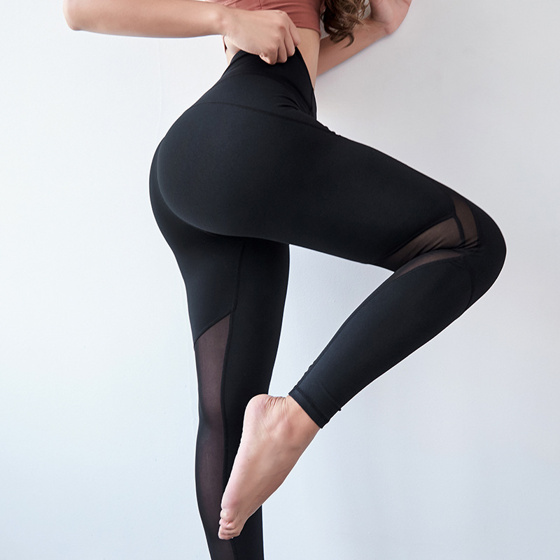 2019 Women High Waist Leggings Fitness Pants Workout Leggings Spandex Black Leggings Push Up Jean Pants Sexy Mesh Leggings