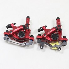 цена на ZOOM HB-100 mtb bike hydraulic disc brake caliper bicycle Line Pulling Disc Brake 2 color