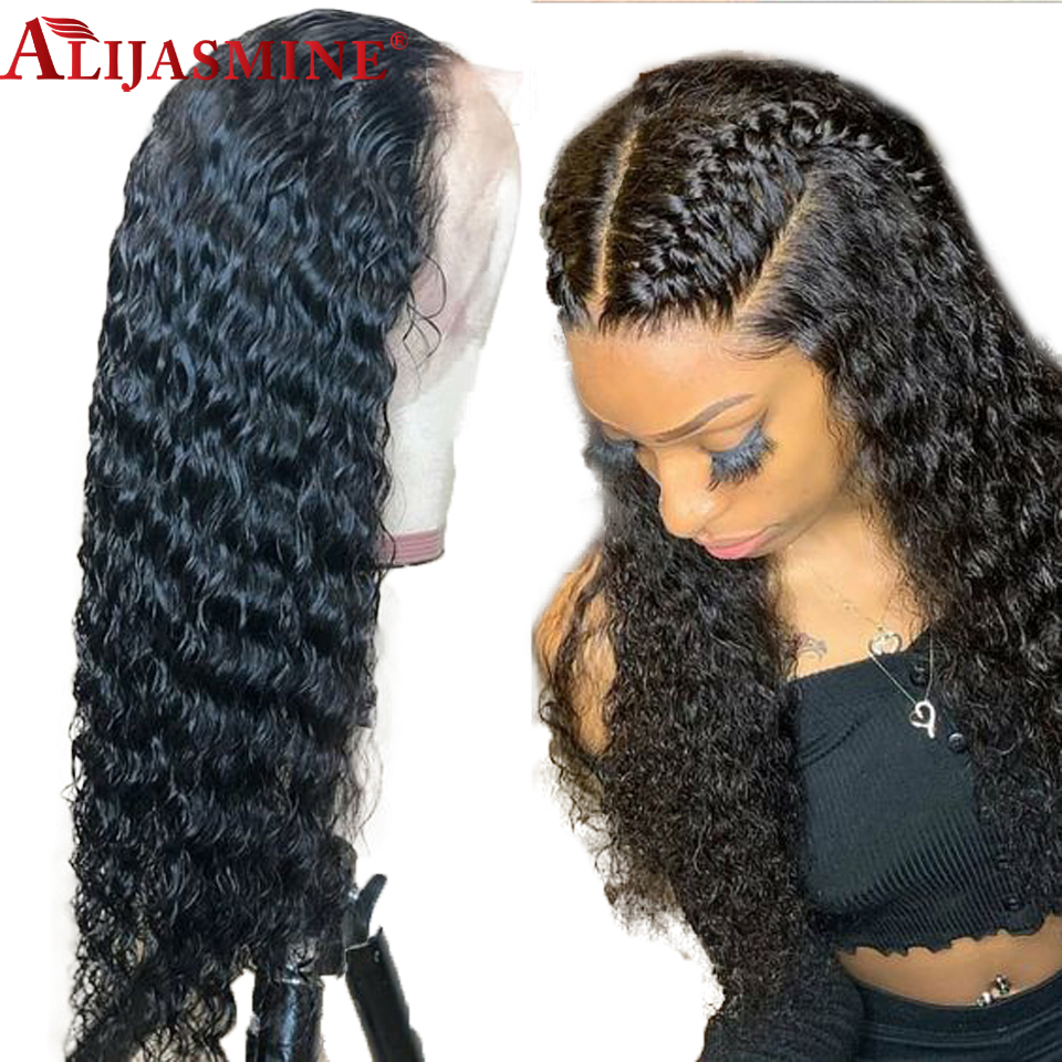 150 Density Peruvian Remy Hair Wigs For Women Preplucked 13x6 Deep Part Lace Front Curly Human