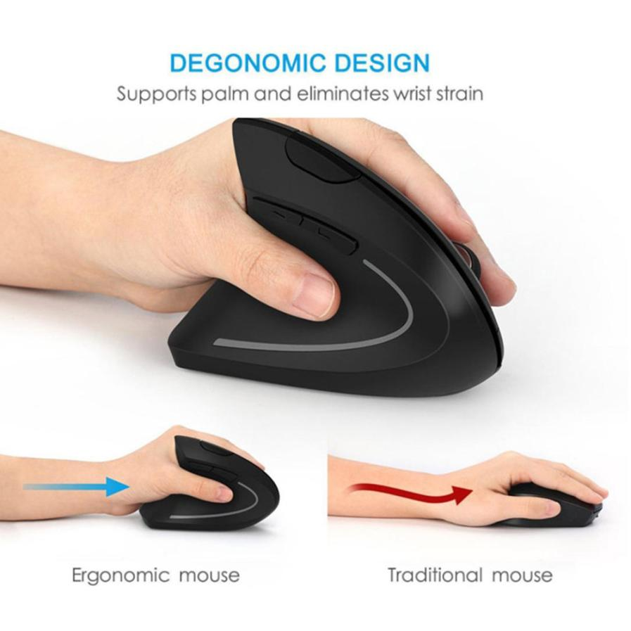 Mouse Raton Professional Vertical Wireless Ergonomic Mouse Left hand Optical 1600DPI