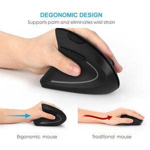 Mouse Raton Professional Vertical Wireless Ergonomic Mouse Left hand Optical 1600DPI Gaming For PC Laptop computer mouse 18Aug6
