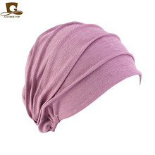 NEW Women Slouchy Snood  Beanie ruffle turban baggy Hat Cancer chemo Hats for hair loss
