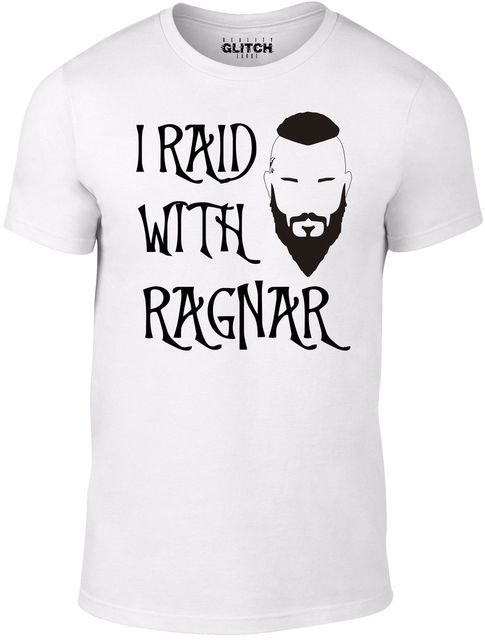 f9de8fa1426f9 I Raid With Ragnar T Shirt Inspired By Vikings TV Series Norse Lothbrok  LegendNew Tee Print