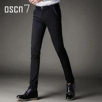 OSCN7 Slim Fit Mens Dress Spodnie Business Leisure Odzież Plus Rozmiar Męski 2017 Marki Perfum Classique Homme Pantalon