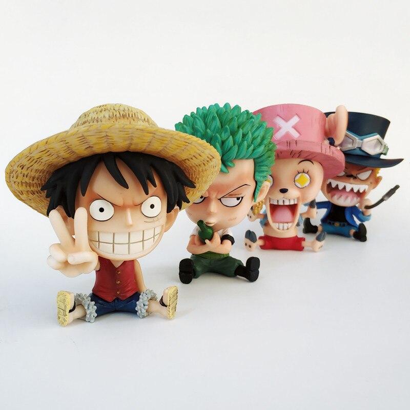anime Luffy black dry PVC figure figurine cute doll toy manga cool