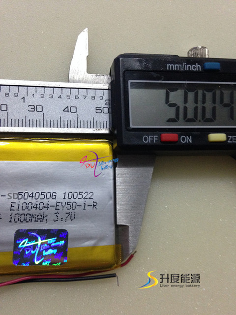 tablet battery SD504050 504050 3.7v 1000mAh li-polymer batteries gps tracking device long battery life