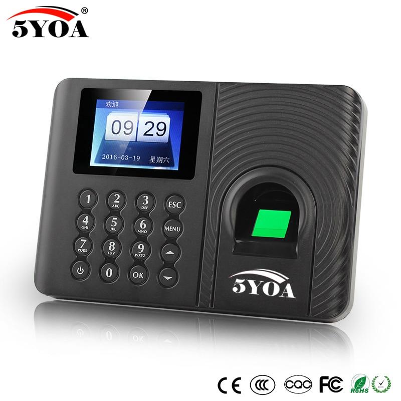 bilder für 5YOA A10 Biometric Fingerprint Zeiterfassung Clock Recorder Mitarbeiter Digitale Elektronische Englisch Spanisch Reader Maschine