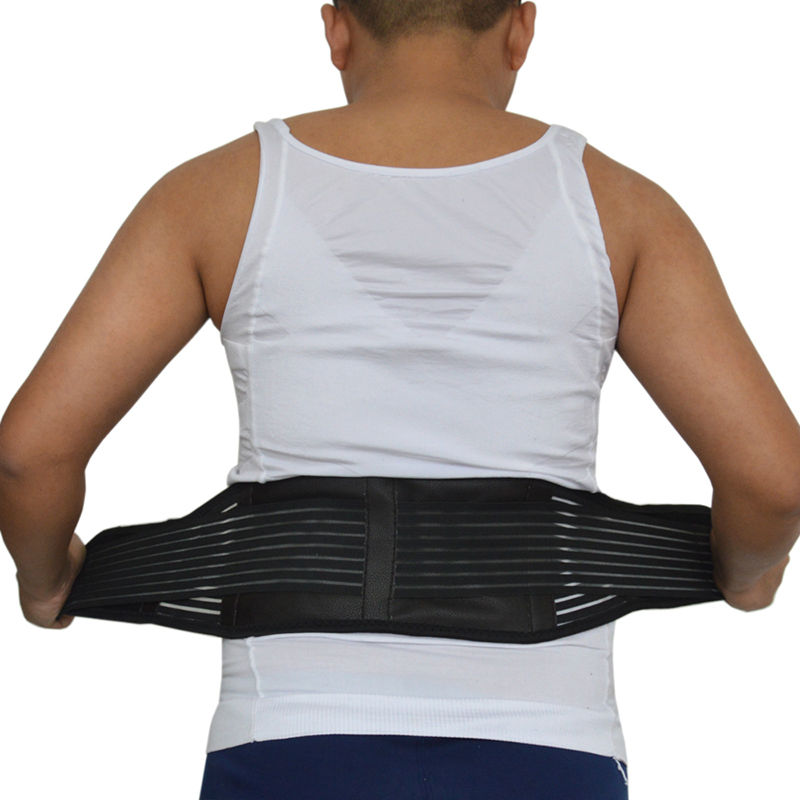 Tourmaline Belt Magnetic Therapy Back Support Belt Brace Lumbar Support Tourmaline Waist Belt Corset Back Massager AFT-Y011