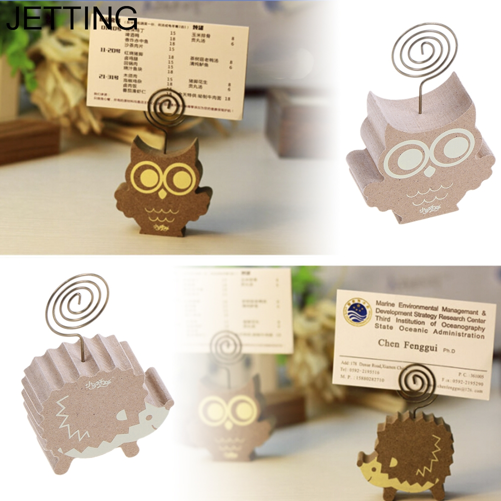 madera lindo setas erizo owl tree photo paper clip titular memo clips de pinza clavija de