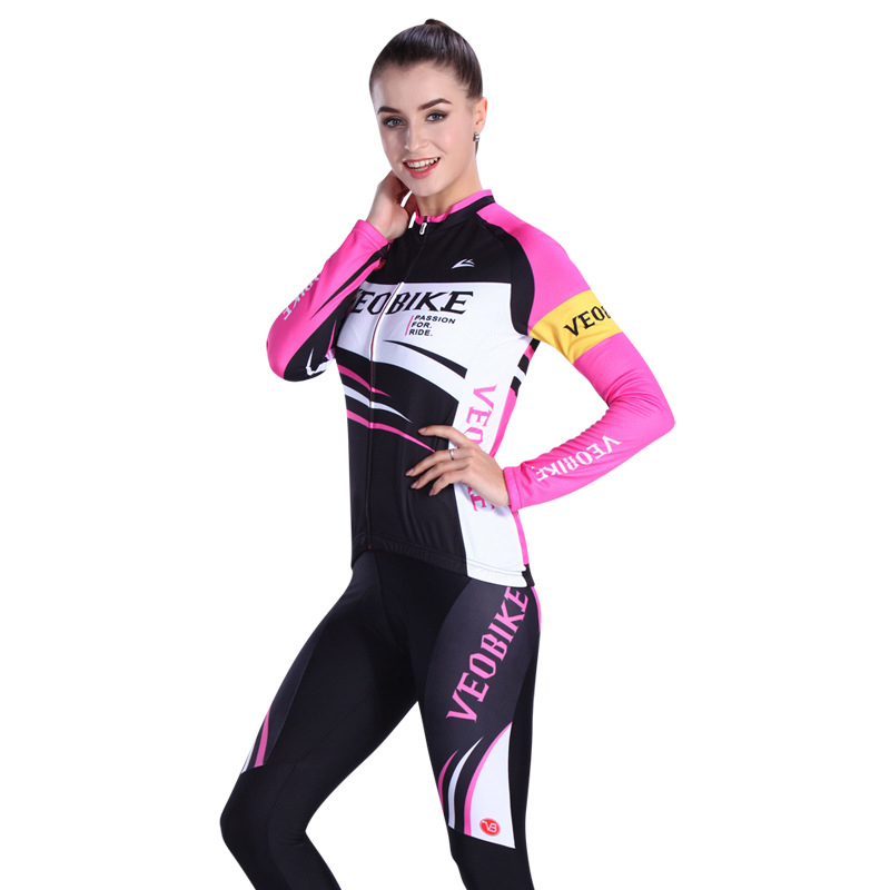 Sportswear long sleeve cycling jersey cycling clothes cycling sets for women цена