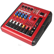 Pro 4 Way 800W Amplifier Microphone Mixing Console Sound Power Mixer USB 48V Bluetooth Monitor 2 in 1 Function цена и фото