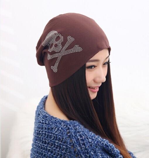 b2d9a93a8a5 Dropwow Fashion Spring and Autumn hat beanies Diamond Skull Pattern ...