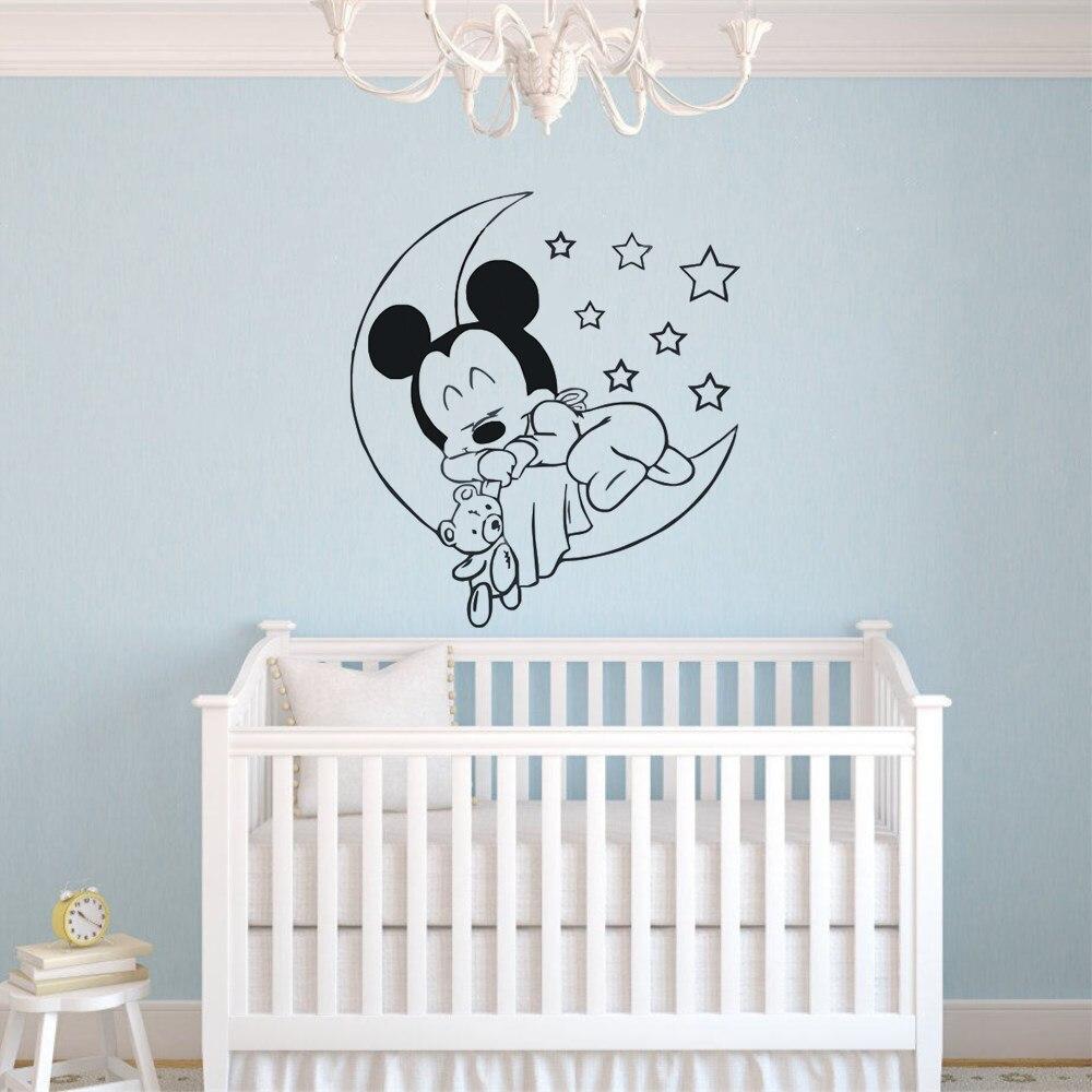 Moon /& Stars Vinyl Wall Art Sticker Decal Silhouette Kids Bedroom Nursery MATT
