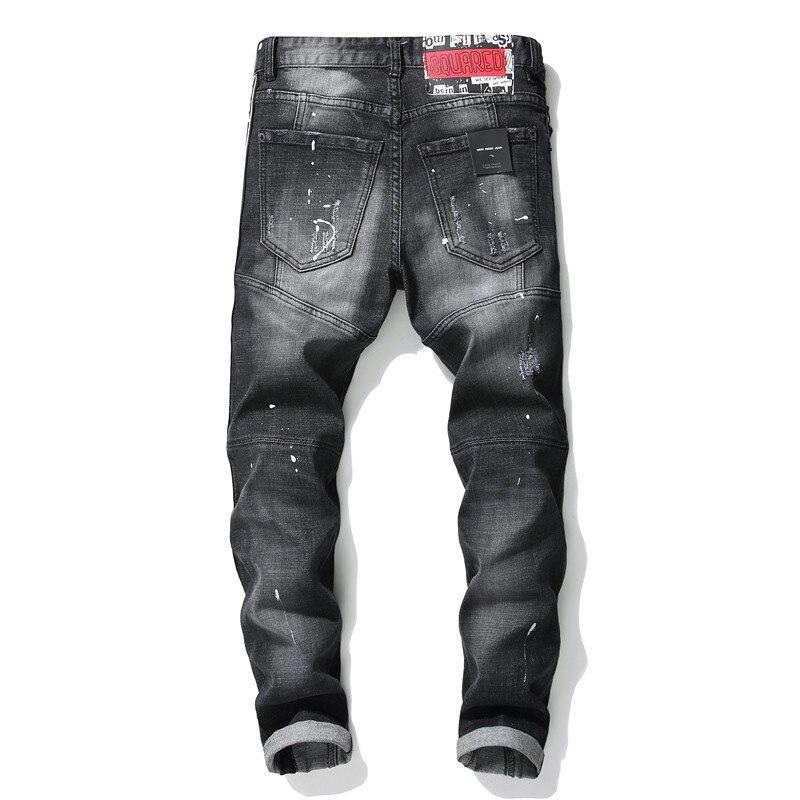8620c71741 2018 algodón de los hombres recto clásico Jeans primavera otoño Denim  Pantalones de diseñador de los