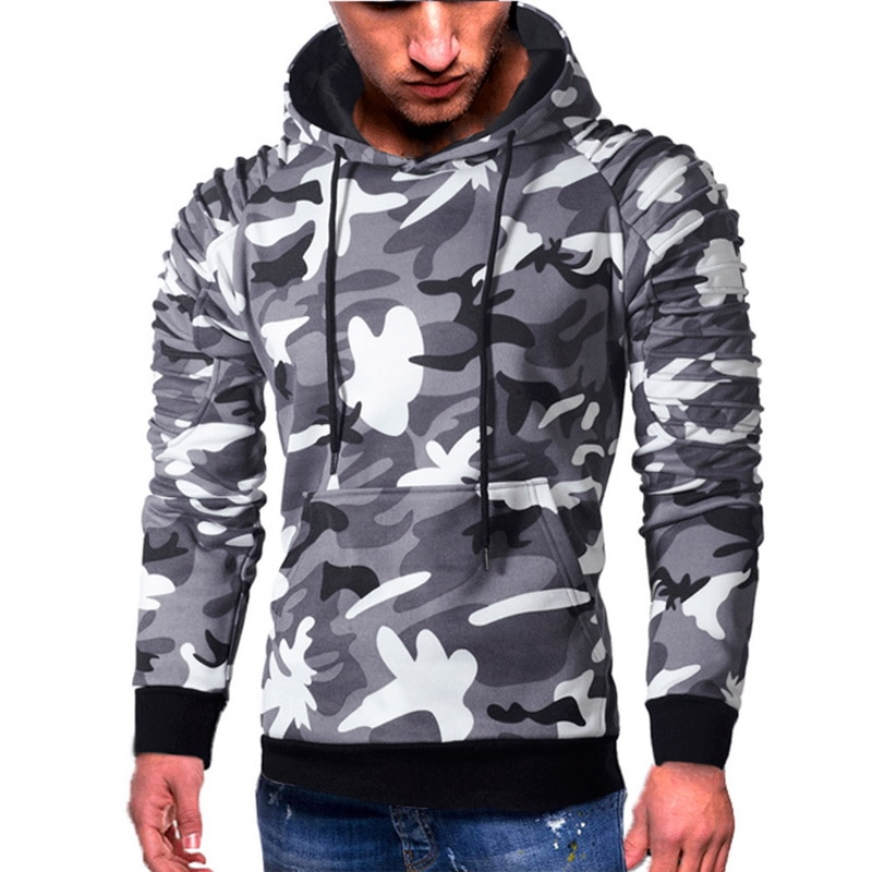Fashion Camoflauge  Hoodies Sweatshirts Military Camo Hoodies Pullovers Casual Hip Hop Oversized Streetwear Hoody 6