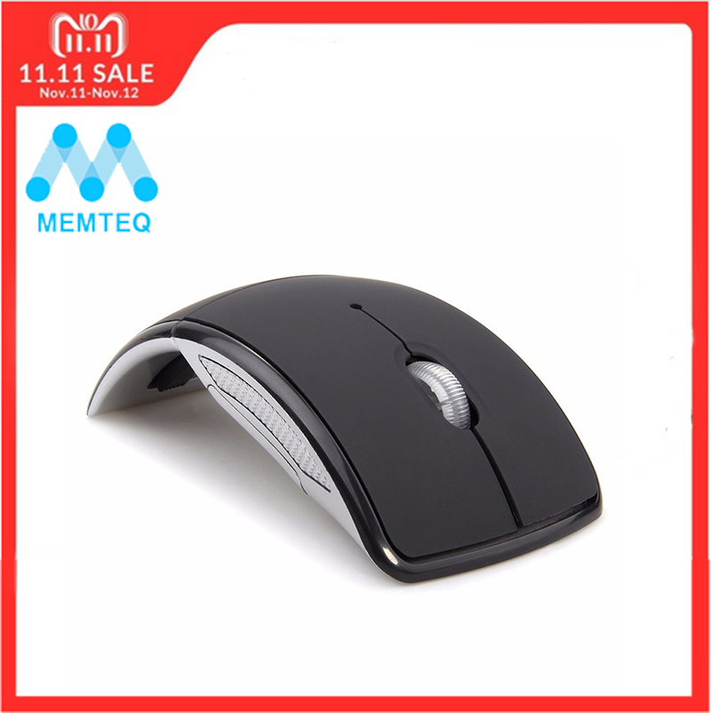 все цены на MEMTEQ Wireless Mouse 2.4Ghz Computer Mouse Foldable Travel Notebook Mute Mouse Mini Mice USB Receiver for Laptop PC Desktop