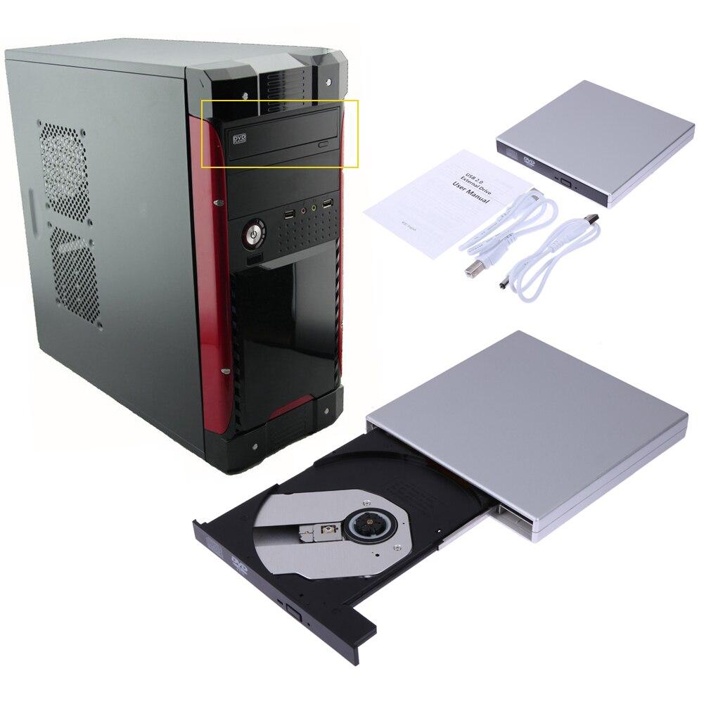 USB 2.0 Внешний DVD COMBO CD-RW Встроенная память горелки привода с USB кабель для ПК/Mac/ ноутбук/Нетбуки переносной dvd/cd плеер ...